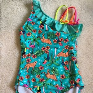 Never worn! Girls one piece swimsuit  (L)